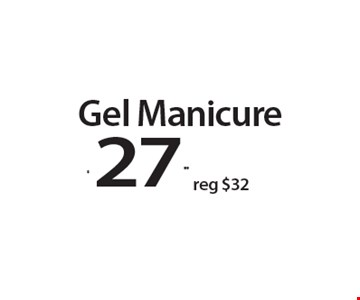Gel Manicure $27.99. With this Clipper coupon. Not valid with other offers or prior services. Offer expires 05-28-18.