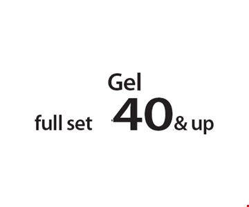 Gel full set $40 & up. With this Clipper coupon. Not valid with other offers or prior services. Offer expires 05-28-18.
