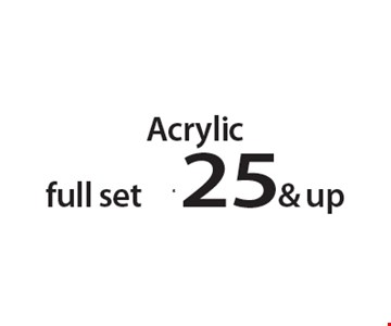 Acrylic full set $25 & up. With this Clipper coupon. Not valid with other offers or prior services. Offer expires 05-28-18.