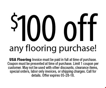 $100 off