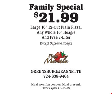 Family Special $21.99 Large 16