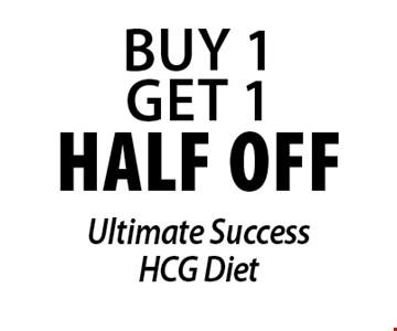 half off Ultimate SuccessHCG Diet.