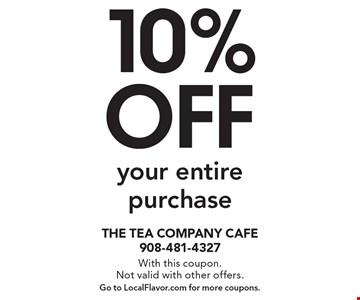 10% off your entire purchase. With this coupon.Not valid with other offers.Go to LocalFlavor.com for more coupons.