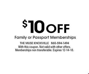 FREE Planetarium Showwith paid admission. The muse knoxville 594-1494With this coupon. Not valid with other offers. Memberships non-transferable. Expires 12-14-18.