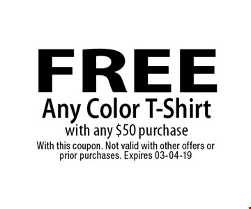 FREE Any Color T-Shirt 