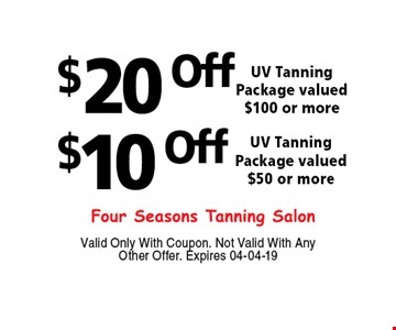 $20 Off$10 OffValid Only With Coupon. Not Valid With Any Other Offer. Expires 04-04-19