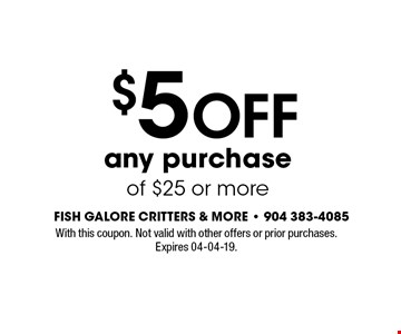 $5 OFF any purchase