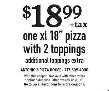$18.99 + tax one xl 18