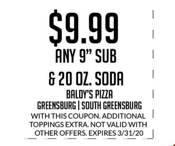 $9.99 Any 9