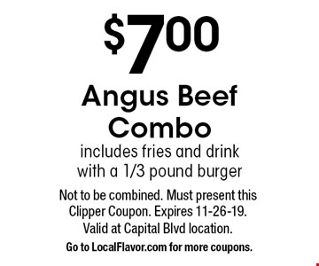 $5 OFF any purchase of $25 or more. Not to be combined. Must present this Clipper Coupon. Expires 11-26-19.Valid at Capital Blvd location. Go to LocalFlavor.comfor more coupons.