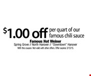 $0.50 off cheese dog or cheeseburger & fries. With this coupon. Not valid with other offers. Offer expires 3/13/15.