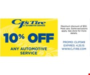 10% off any automotive service