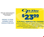 $23.99 Full-Service Oil Change