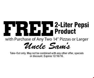 Free 2-Liter Pepsi Product with Purchase of Any Two 14