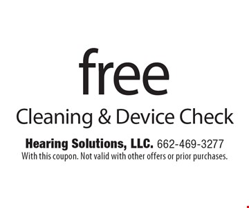 free Cleaning & Device Check. With this coupon. Not valid with other offers or prior purchases.