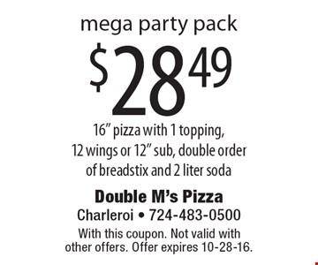 $28.49 mega party pack 16