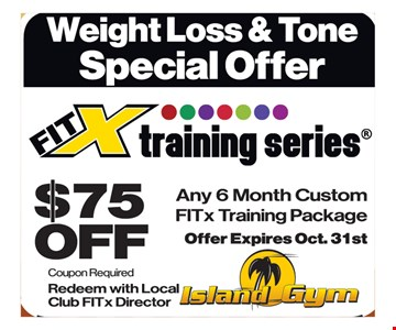 $75 off FitX training series