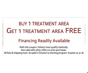 2 Treatment areas for the price of One