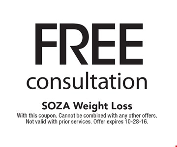 FREE consultation. With this coupon. Cannot be combined with any other offers. Not valid with prior services. Offer expires 10-28-16.
