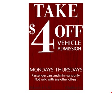 $4 Off per vehicle