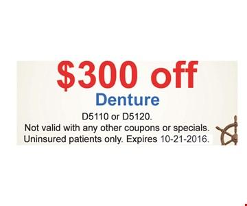 $300 off dentures