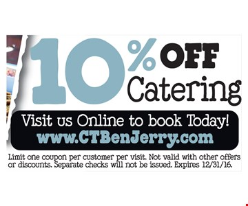 10% off catering