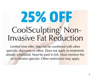 25% off CoolSculpting Non-Invasive Fat Reduction