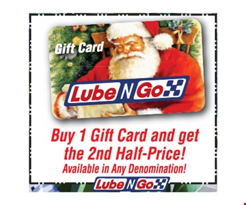 Buy 1 Gift Card And Get The 2nd Half-Price! Available In Any Denomination!