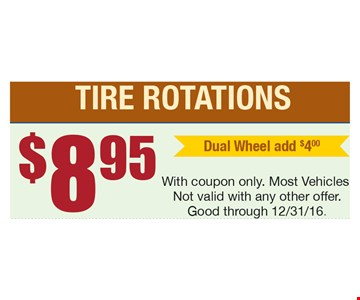 $8.95 Tire Rotations