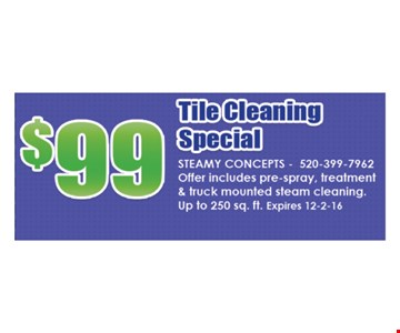 $99 Tile Cleaning Special