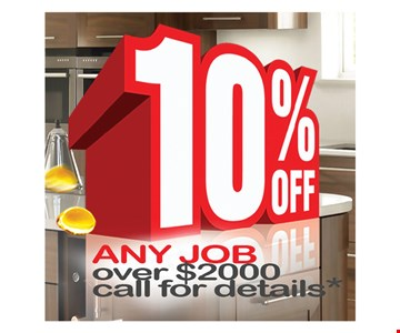 10% off any job over $2000
