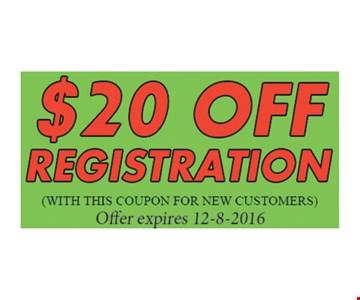 $10 Off Registration