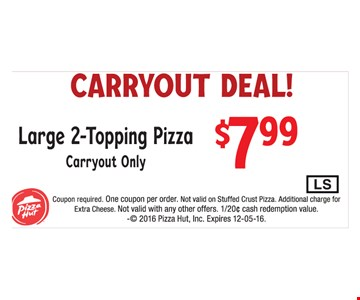 Carryout deal for $7.99.