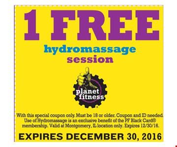 1 free hydromassage session