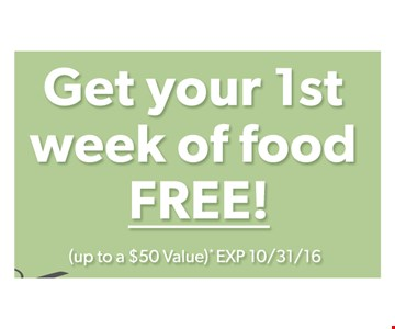 Get your 1st week of food free