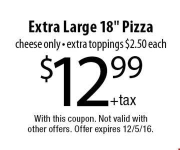 $12.99 Extra Large 18