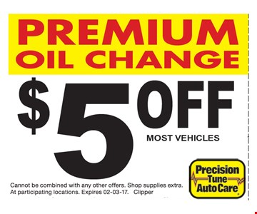 $5 Off Premium Oil Change
