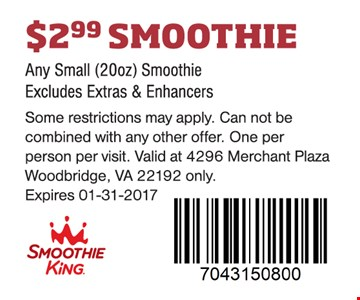 $2.99 smoothie