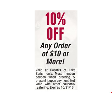 10% off any $10 order.