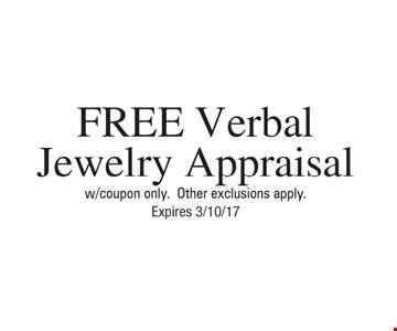 Free verbal jewelry appraisal