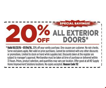 20% off all exterior doors