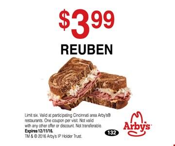 $3.99 Reuben