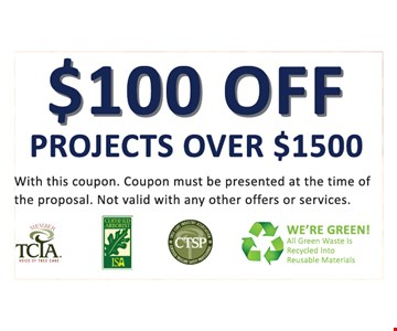 $100 off projects over $1500