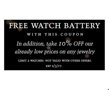 Free watch battery