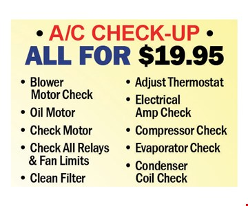 $19.95 A/C check-up