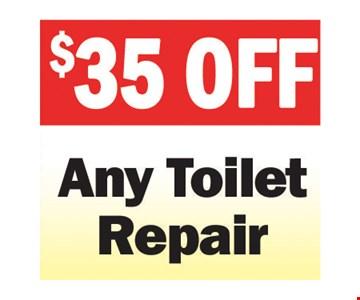$25 Any Toilet Repair
