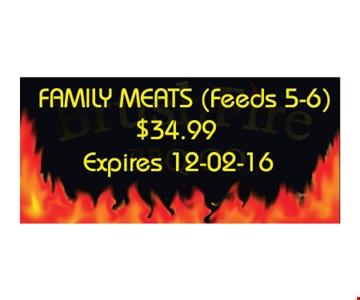 family meats $34.99