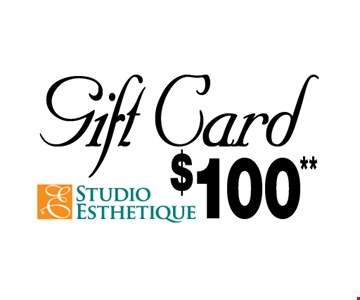 $100** Gift Card. *Can be used for any treatment, valued $750 or more. Exp. 12-9-16