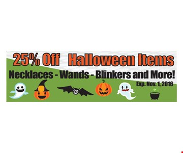 25% off halloween items