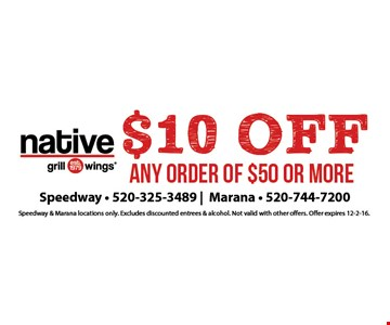$10 Off any order of $50 or more